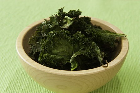 snack: Nutritious snack of roasted kale chips