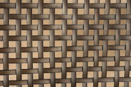 faux: Brown tessuto faux trama di vimini su beige