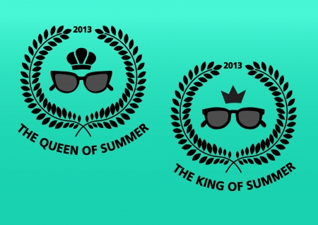 Awards for the king and queen of summer 2013  Vector