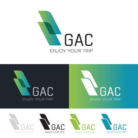 Création de logo pour les entreprises et modèle de conception de logo de magasin d'importation d'exportation créative avec cercle et flèches. Signe d'icône d'affaires de symbole de livraison ou de logistique