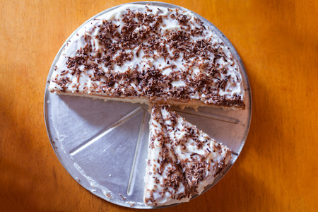 homemade cake: Homemade cake on a wooden table