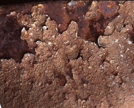 Rust and peeling paint Stock Photo