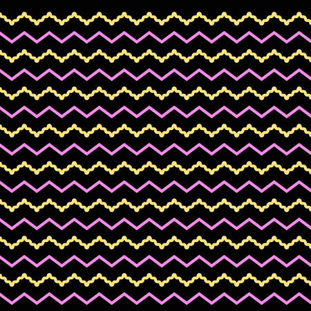 colorful twist line with black background Illustration