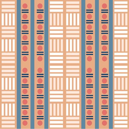 seamless colorful native pattern background Stock Illustratie