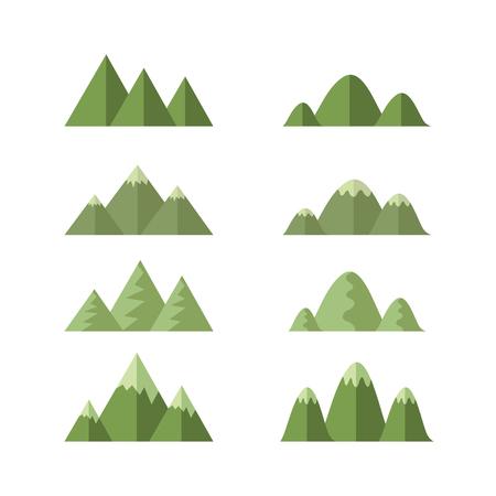 set of moutains , cartoon vector Ilustração