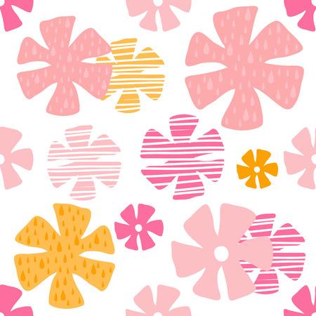 colorful flower pattern Ilustração
