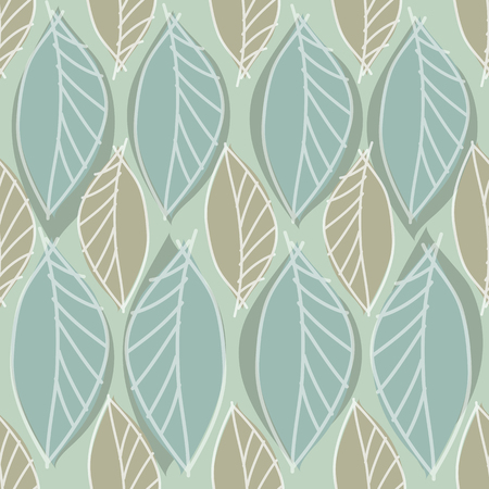 abstract leaves pattern with green background