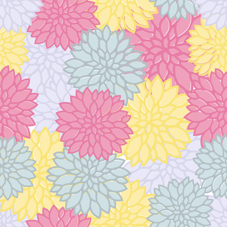 seamless floral pattern with colorful