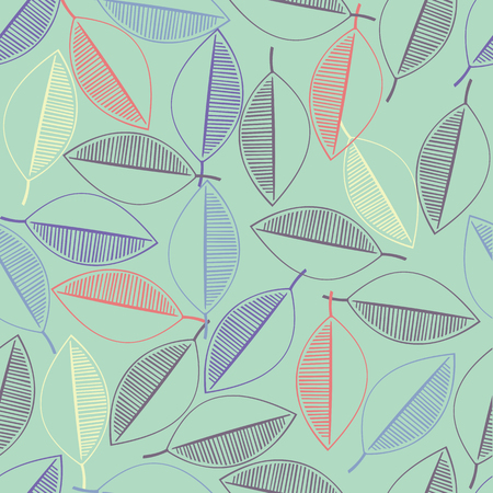 seamless colorful pattern from leafs