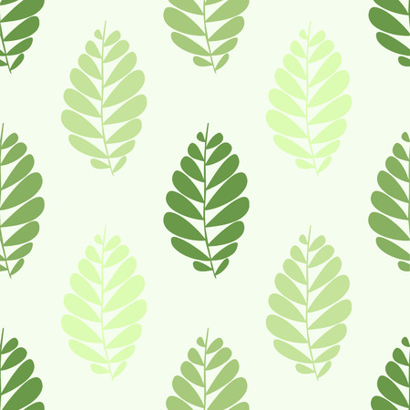 seamless pattern with green leaves Stock Illustratie
