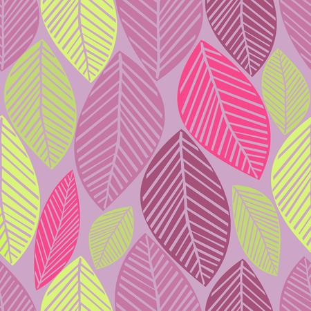 seamless winter leaves pattern background Ilustração
