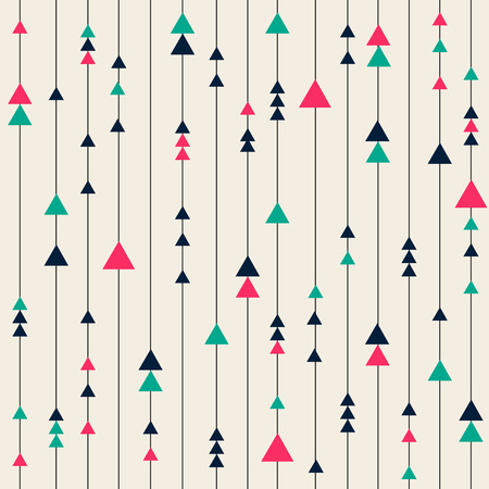 seamless colorful pattern from lines and triangle Ilustração