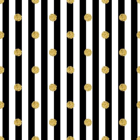 seamless gold dot glitter pattern with stripe background