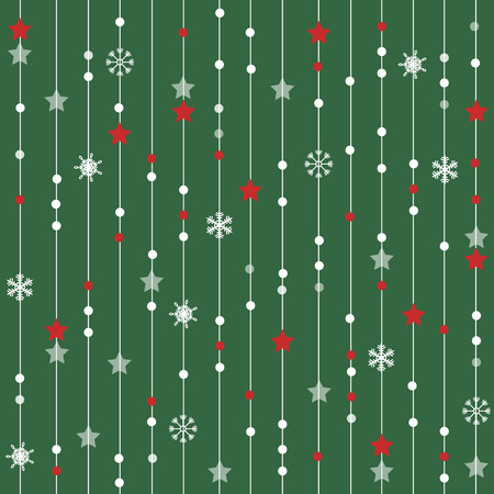 seamless christmas pattern with lines stars and snowflakes