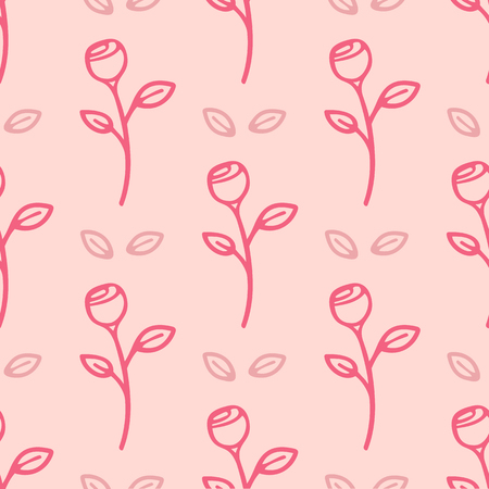 Seamless abstract pink flower pattern background Stock Illustratie
