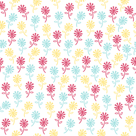 seamless colorful floral pattern background
