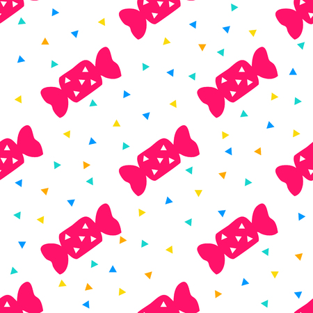 seamless colorful pop candy pattern background
