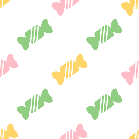 seamless colorful candy pattern background