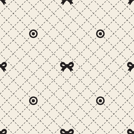 seamless monochrome ribbon pattern background