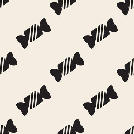 seamless monochrome candy pattern Stock Illustratie