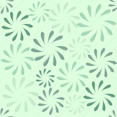 seamless abstract leaves pattern
