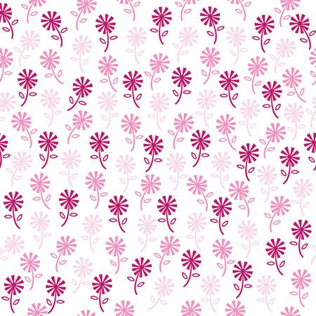 seamless pink floral pattern Ilustração