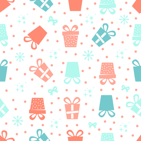 seamless colorful gifts pattern Stock Illustratie
