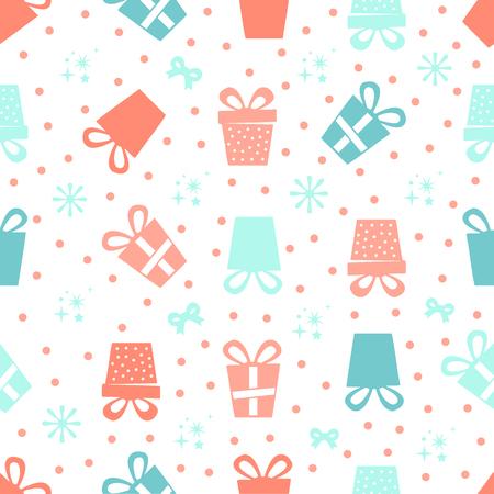 seamless colorful gifts pattern Ilustração