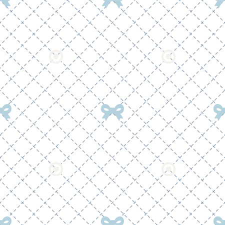seamless blue ribbon pattern background