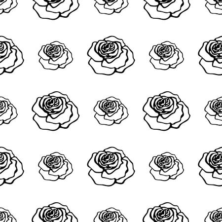 seamless black roses pattern Stock Illustratie