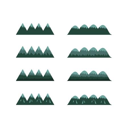 set of moutains , cartoon vector Stock Illustratie