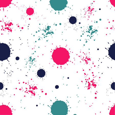ink stain: Seamless abstract grunge pattern with colorful blots