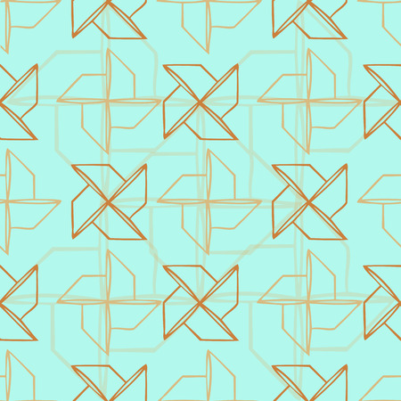 Seamless turbine pattern with blue background