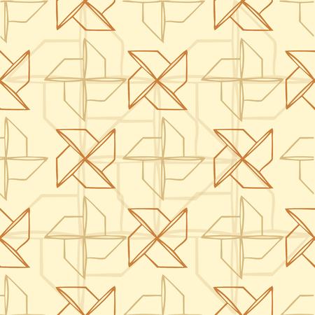 Seamless turbine pattern with brown background Ilustração