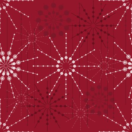 seamless abstact snowflake pattern background Stock Illustratie