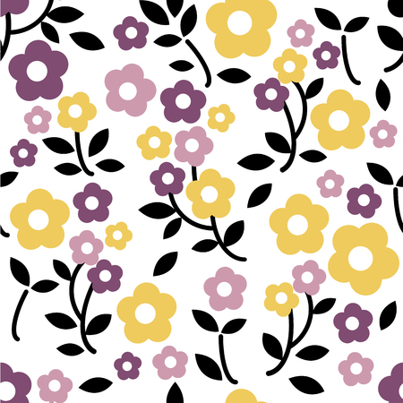 seamless clover: seamless colorful floral pattern background