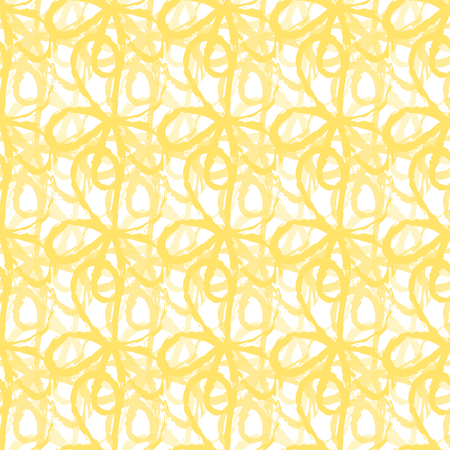seamless abstract yellow froral pattern