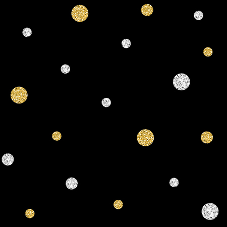 Gold and silver dot pattern Illustration