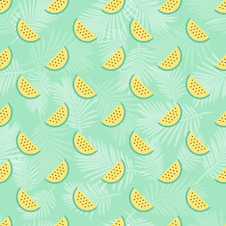 Yellow watermelon pattern