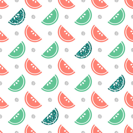 Seamless colorful fruit pattern with silver dot pattern background