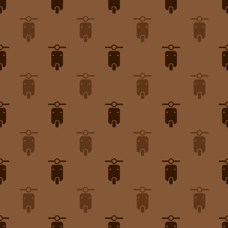 seamless brown motorcycle pattern background 向量圖像