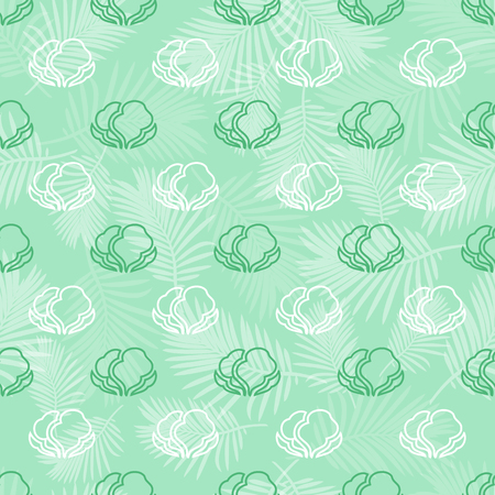 seamless green vegetable pattern background