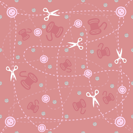 patten: sewing tools patten background