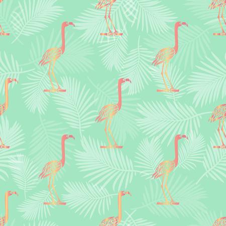 seamless pink bird pattern background Illustration
