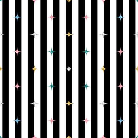 seamless colorful glitter pattern on stripe background