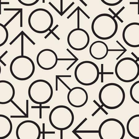 seamless monochrome male and female sex symbol pattern background