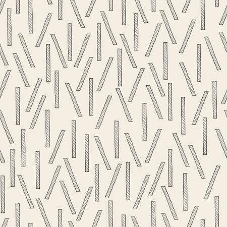 seamless monochrome stick pattern background Stock Illustratie