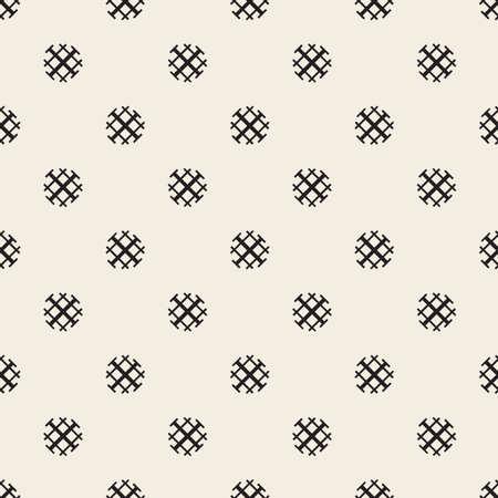 seamless monochrome dot with cross line pattern background