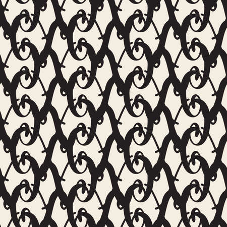 seamless monochrome abstract line pattern background