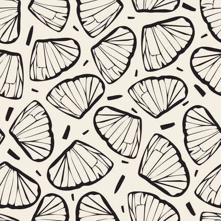 seamless abstract pattern background from butterfly wing Stock Illustratie